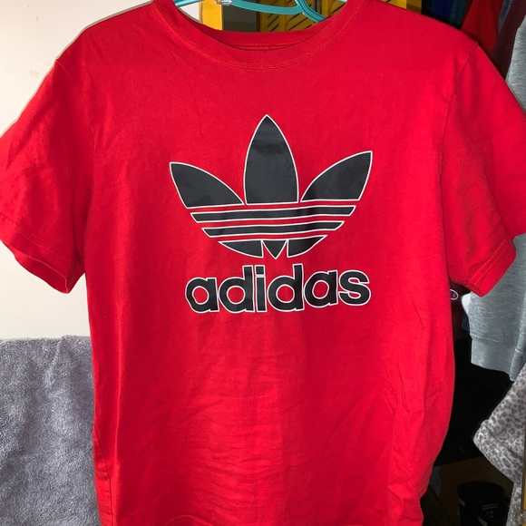 Red Adidas T shirt